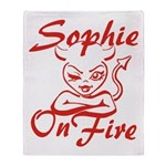 Sophie On Fire Throw Blanket