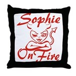 Sophie On Fire Throw Pillow