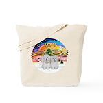 XM2-Two Coton de Tulear Tote Bag