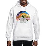 XM2-Two Coton de Tulear Hooded Sweatshirt