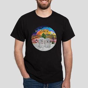 XM2-Two Coton de Tulear Dark T-Shirt