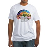 XM2-Two Coton de Tulear Fitted T-Shirt