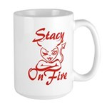 Stacy On Fire Large Mug