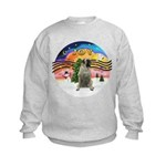 XMusic2-BullMastiff Kids Sweatshirt