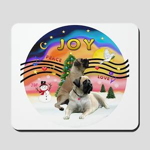XM2-Two Bull Mastiffs Mousepad