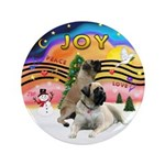 "XM2-Two Bull Mastiffs 3.5"" Button (100 pack)"
