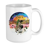 XM2-Two Bull Mastiffs Large Mug