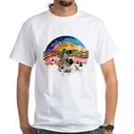 XM2-Two Bull Mastiffs White T-Shirt