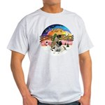 XM2-Two Bull Mastiffs Light T-Shirt