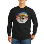 XM2-Two Bull Mastiffs Long Sleeve Dark T-Shirt