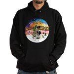 XM2-Two Bull Mastiffs Hoodie (dark)