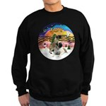 XM2-Two Bull Mastiffs Sweatshirt (dark)