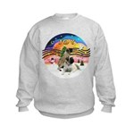 XM2-Two Bull Mastiffs Kids Sweatshirt