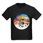 XM2-Two Bull Mastiffs Kids Dark T-Shirt
