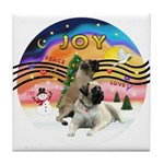 XM2-Two Bull Mastiffs Tile Coaster
