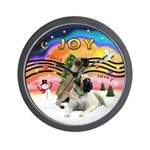 XM2-Two Bull Mastiffs Wall Clock