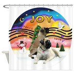 XM2-Two Bull Mastiffs Shower Curtain