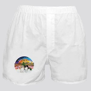 Music2-2Jap Chins (Lem+BW) Boxer Shorts