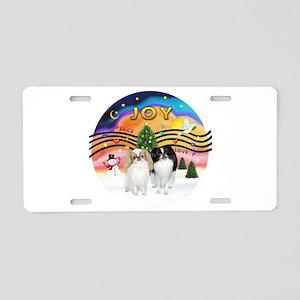 Music2-2Jap Chins (Lem+BW) Aluminum License Plate