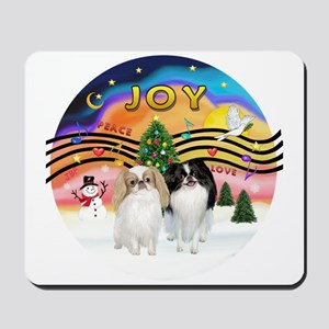 Music2-2Jap Chins (Lem+BW) Mousepad
