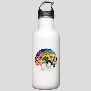 Music2-2Jap Chins (Lem+BW) Stainless Water Bottle