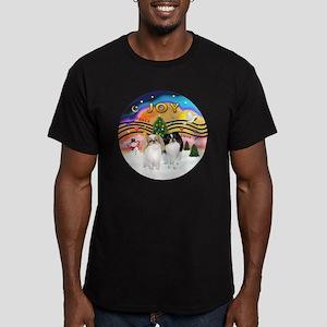 Music2-2Jap Chins (Lem+BW) Men's Fitted T-Shirt (d