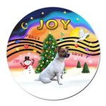XMusic2-JackRussell6 Round Car Magnet