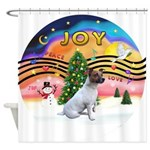 XMusic2-JackRussell6 Shower Curtain