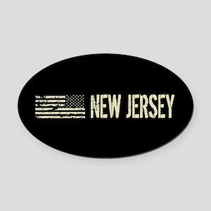 Black Flag: New Jersey Oval Car Magnet