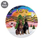 """XMusic2-Two Dobermans 3.5"""" Button (10 pack)"""
