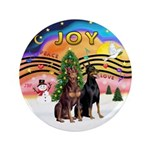 """XMusic2-Two Dobermans 3.5"""" Button (100 pack)"""