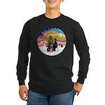 XMusic2-Two Dobermans Long Sleeve Dark T-Shirt