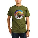 XMusic2-Two Dobermans Organic Men's T-Shirt (dark)