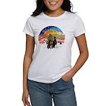 XMusic2-Two Dobermans Women's T-Shirt