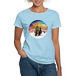 XMusic2-Two Dobermans Women's Light T-Shirt