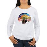 XMusic2-Two Dobermans Women's Long Sleeve T-Shirt