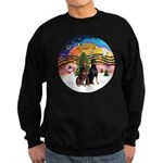 XMusic2-Two Dobermans Sweatshirt (dark)