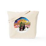 XMusic2-Two Dobermans Tote Bag