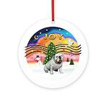 XMusic-English Bulldog (W1) Ornament (Round)