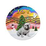 "XMusic-English Bulldog (W1) 3.5"" Button (100"