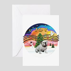 XMusic-English Bulldog (W1) Greeting Cards (Pk of