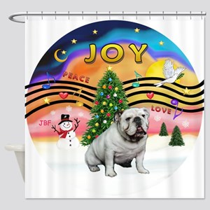 XMusic English Bulldog W1 Shower Curtain