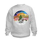 XMusic-English Bulldog (W1) Kids Sweatshirt