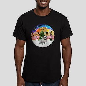 XMusic-English Bulldog (W1) Men's Fitted T-Shirt (