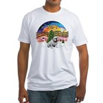 XMusic-English Bulldog (W1) Fitted T-Shirt