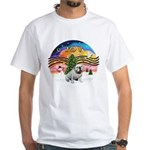 XMusic-English Bulldog (W1) White T-Shirt