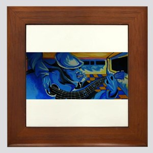 just playing the blues Framed Tile