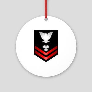 Navy PO2 Machinist's Mate Ornament (Round)