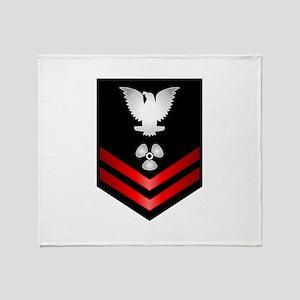 Navy PO2 Machinist's Mate Throw Blanket