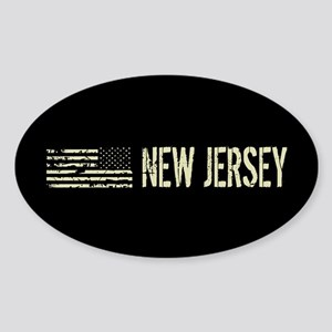 Black Flag: New Jersey Sticker (Oval)
